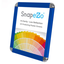 "Load image into Gallery viewer, 8.5x11 Blue SnapeZo® Round-Cornered - 1.25"" Profile"