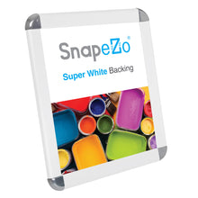 "Load image into Gallery viewer, 8.5x11 White SnapeZo® Round-Cornered - 1.25"" Profile"