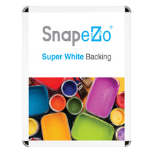 Load image into Gallery viewer, White radial, round-corner snap frame poster size 18X24 - 1.25 inch profile - Snap Frames Direct