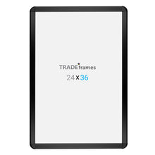 Load image into Gallery viewer, 24x36 Black round-corner TRADEframe Snap Frame, media size 24x36 - 1.25 inch profile