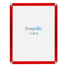 Load image into Gallery viewer, Red radial, round-corner snap frame poster size 22x28 - 1.25 inch profile - Snap Frames Direct