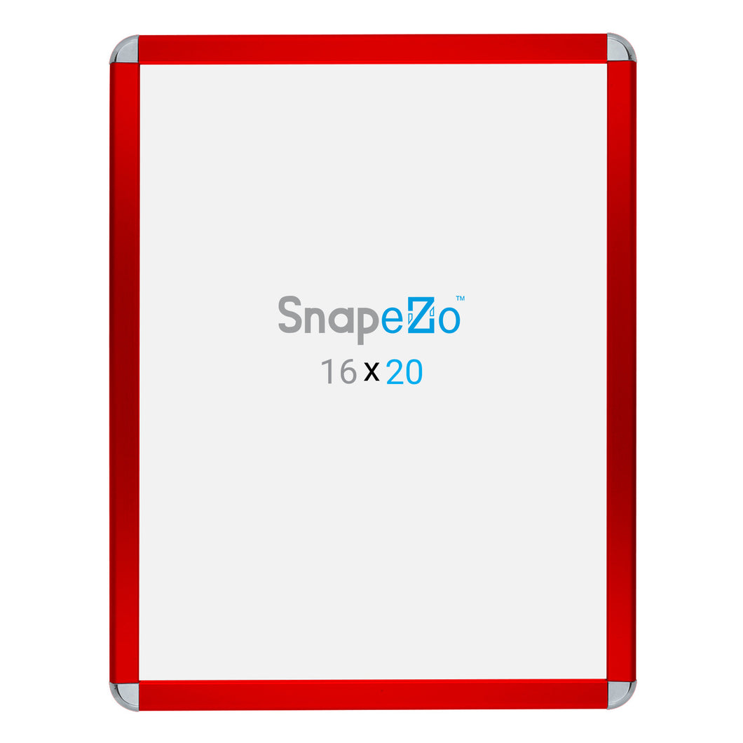 Red radial, round-corner snap frame poster size 22x28 - 1.25 inch profile - Snap Frames Direct