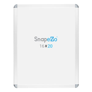 White radial, round-corner snap frame poster size 22x28 - 1.25 inch profile - Snap Frames Direct