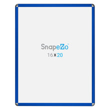 Load image into Gallery viewer, Blue radial, round-corner snap frame poster size 36x48 - 1.25 inch profile - Snap Frames Direct