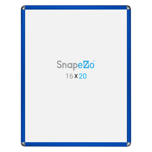 Blue radial, round-corner snap frame poster size 36x48 - 1.25 inch profile - Snap Frames Direct