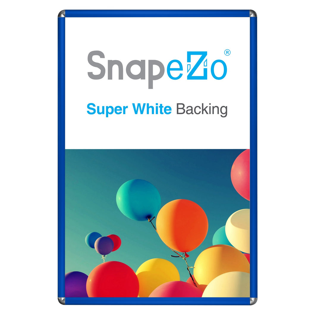 Blue radial, round-corner snap frame poster size 20X30 - 1 inch profile - Snap Frames Direct