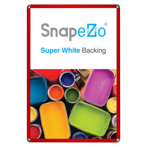 Red radial, round-corner snap frame poster size 20X30 - 1 inch profile - Snap Frames Direct