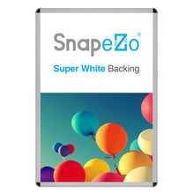 Load image into Gallery viewer, Silver radial, round-corner snap frame poster size 27X40 - 1.25 inch profile - Snap Frames Direct