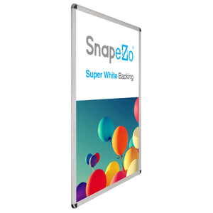 "27x40 Silver SnapeZo® Round-Cornered - 1.25"" Profile"