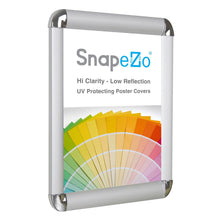 "Load image into Gallery viewer, 11x17 Silver SnapeZo® Return Round-Cornered - 1"" Profile"