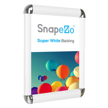 "Load image into Gallery viewer, 11x17 White SnapeZo® Round-Cornered - 1"" Profile"