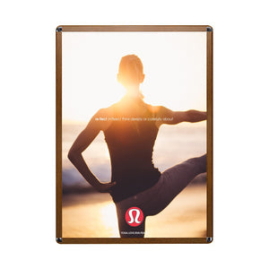 Round cornered wood-effect snap frame 36x48 poster size - 1.25 inch profile - Snap Frames Direct