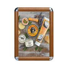 Load image into Gallery viewer, Dark Wood radial, round-corner snap frame poster size 20X30 - 1 inch profile - Snap Frames Direct