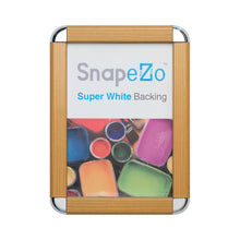 "Load image into Gallery viewer, 27x40 Light Wood SnapeZo® Round-Cornered - 1.25"" Profile"