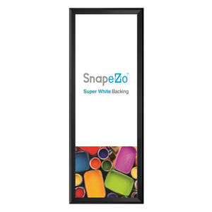 Black snap frame poster size 22X56 - 1.25 inch profile - Self-Assembly - Snap Frames Direct