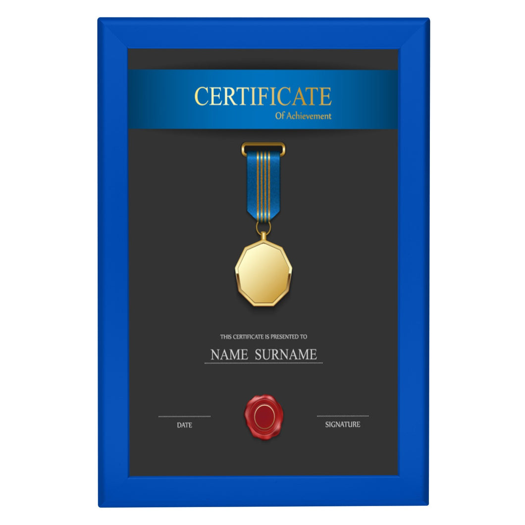 Blue diploma snap frame poster size 11X17 - 1.25 inch profile - Snap Frames Direct