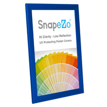 "Load image into Gallery viewer, 11x17 Blue SnapeZo® Snap Frame - 1.25"" Profile"
