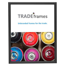 Load image into Gallery viewer, Black certificate TRADEframe snap frame, media size 8.5X11 -  0.6 inch profile - Snap Frames Direct