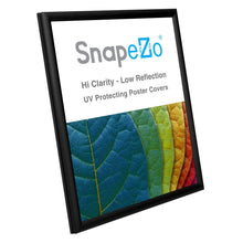 "Load image into Gallery viewer, 8.5x11 Black SnapeZo® Snap Frame - 0.6"" Profile"