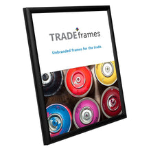 "Load image into Gallery viewer, 8.5x11 Black TRADEframe Snap Frame - 0.6"" Profile"