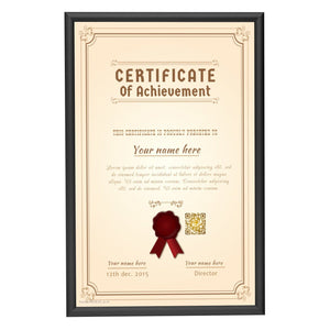 Black diploma snap frame poster size 11X17 -  0.6 inch profile - Snap Frames Direct