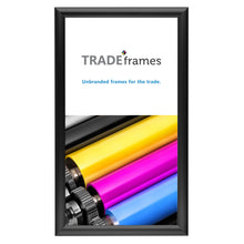 "Load image into Gallery viewer, 10x18 Inches Black Snap Frame - 1"" Profile"