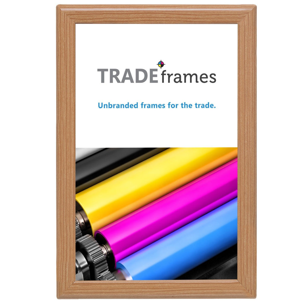 Light Wood diploma snap frame poster size 11X17 - 1.25 inch profile - Snap Frames Direct