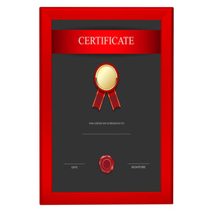 Red diploma snap frame poster size 11X17 - 1.25 inch profile - Snap Frames Direct