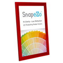 "Load image into Gallery viewer, 11x17 Red SnapeZo® Snap Frame - 1.25"" Profile"