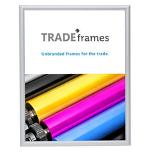 Load image into Gallery viewer, Silver certificate snap frame poster size 8.5X11 -  0.6 inch profile - Snap Frames Direct
