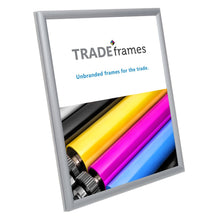 "Load image into Gallery viewer, 8.5x11 Silver TRADEframe Snap Frame - 0.6"" Profile"
