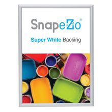 Load image into Gallery viewer, Silver snap frame poster size 5x7 - 1 inch profile - Snap Frames Direct