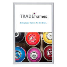 Load image into Gallery viewer, Silver diploma snap frame poster size 11X17 -  0.6 inch profile - Snap Frames Direct