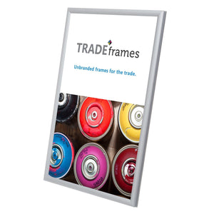 "11x17 Silver TRADEframe Snap Frame - 0.6"" Profile"