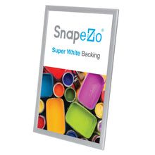 Load image into Gallery viewer, 11x17 Silver SnapeZo Snap Frame - 0.8 Inch Profile