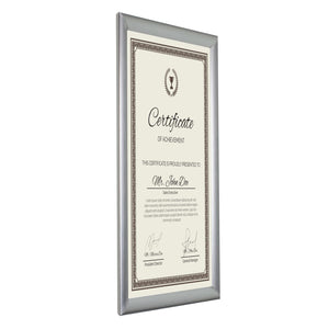 "11x17 Brushed Silver SnapeZo® Snap Frame - 1"" Profile"