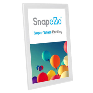 "11x17 White SnapeZo® Return Snap Frame - 1.25"" Profile"