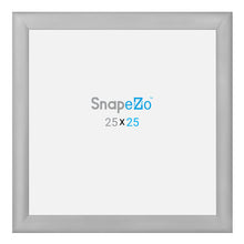 "Load image into Gallery viewer, 33x33 Silver SnapeZo® Snap Frame - 1.2"" Profile"