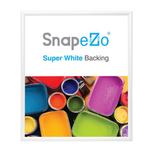 "Load image into Gallery viewer, 14x16 White SnapeZo® Snap Frame - 1.2"" Profile"