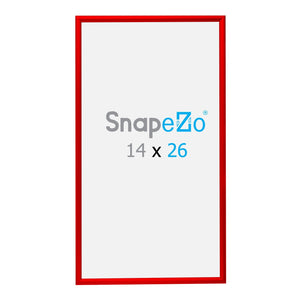 "14x26 Red SnapeZo® Snap Frame - 1.2"" Profile"
