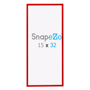 "15x32 Red SnapeZo® Snap Frame - 1.2"" Profile"