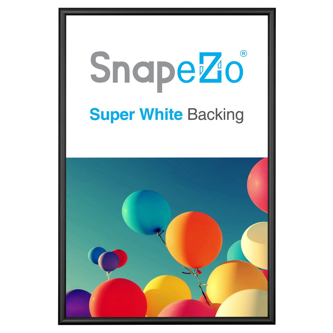 Black snap frame poster size 20X30 -  0.6 inch profile - Snap Frames Direct