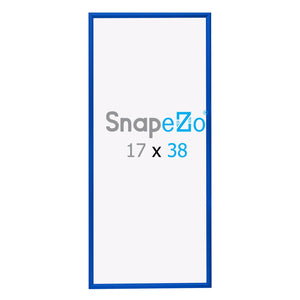 "17x38 Blue SnapeZo® Snap Frame - 1.2"" Profile"