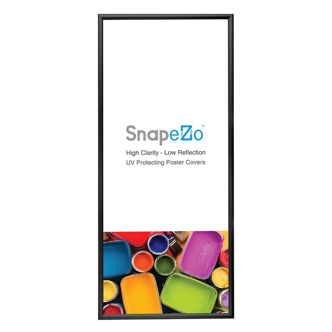 Black snap frame poster size 17x38 - 1.2 inch profile - Snap Frames Direct