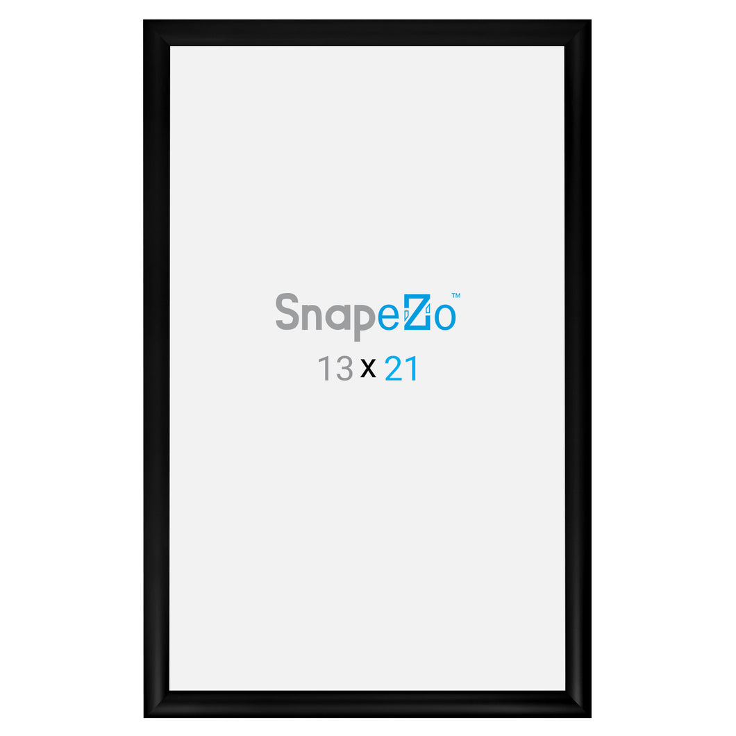 Black snap frame poster size 19x30 - 1.2 inch profile - Snap Frames Direct