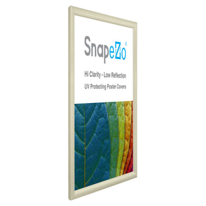 "18x24 Cream SnapeZo® Snap Frame - 1.2"" Profile"