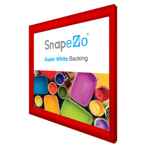 "19x19 Red SnapeZo® Snap Frame - 1.2"" Profile"