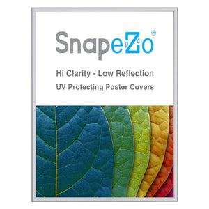 "18x24 Silver SnapeZo® Return Snap Frame - 0.6"" Profile"