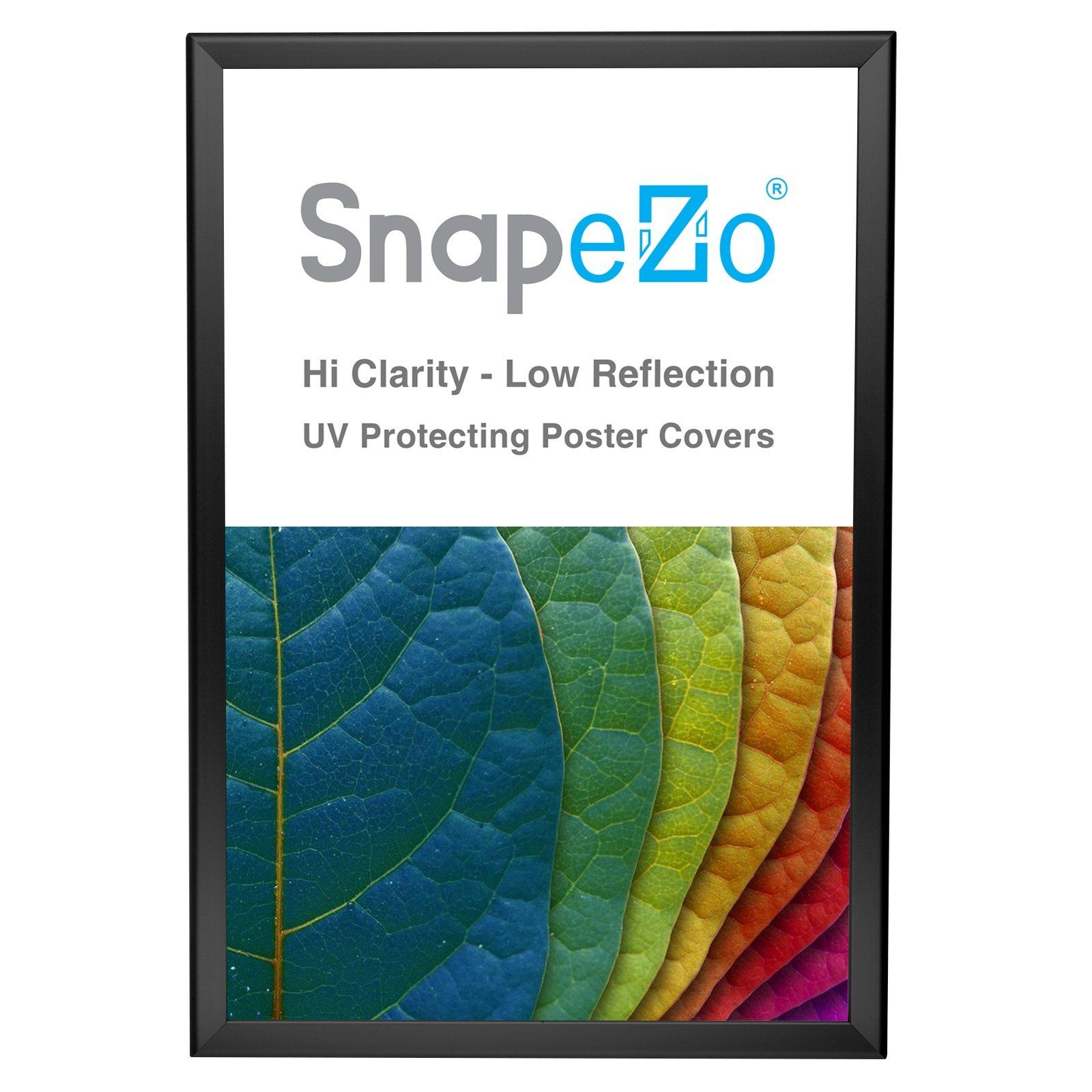 black snap frame poster size 20x30 1 25 inch profile