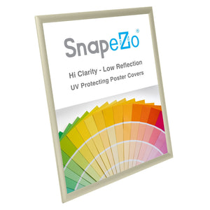 "22x28 Cream SnapeZo® Return Snap Frame - 1"" Profile"